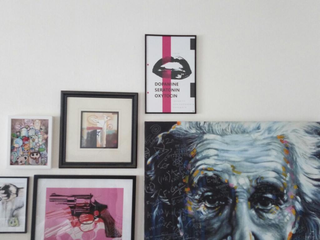 A mysterious customer hangs an original by Ian Maxfield