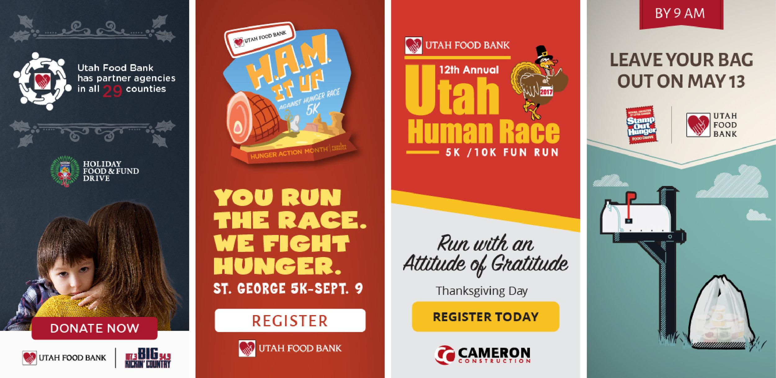 UtahFoodBank Online Banners