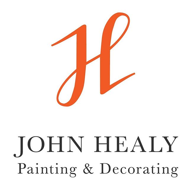 The Logo I designed for my husband John Healy. 🖌 . . . . #irishdesign #graphicdesigner #logo #monogram #paintinganddecorating #identitydesign #logodesign