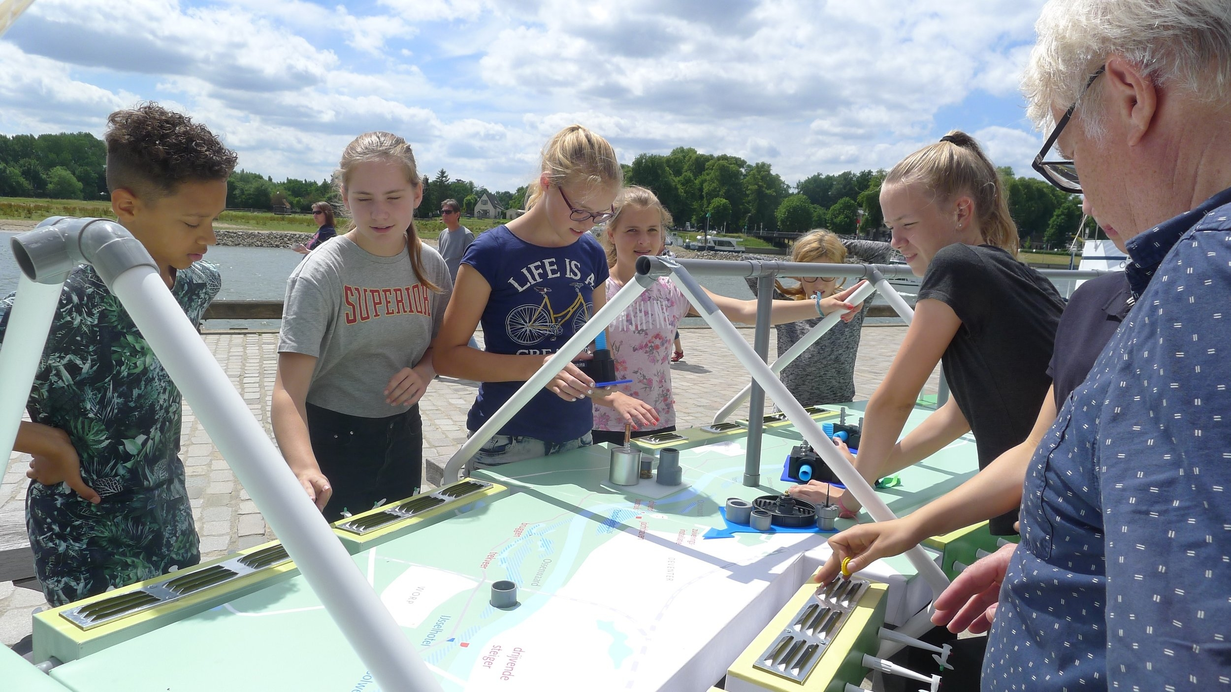Brugklas van de Boerhaave organiseren de inrichting van de IJsselvallei als Energielandschap.