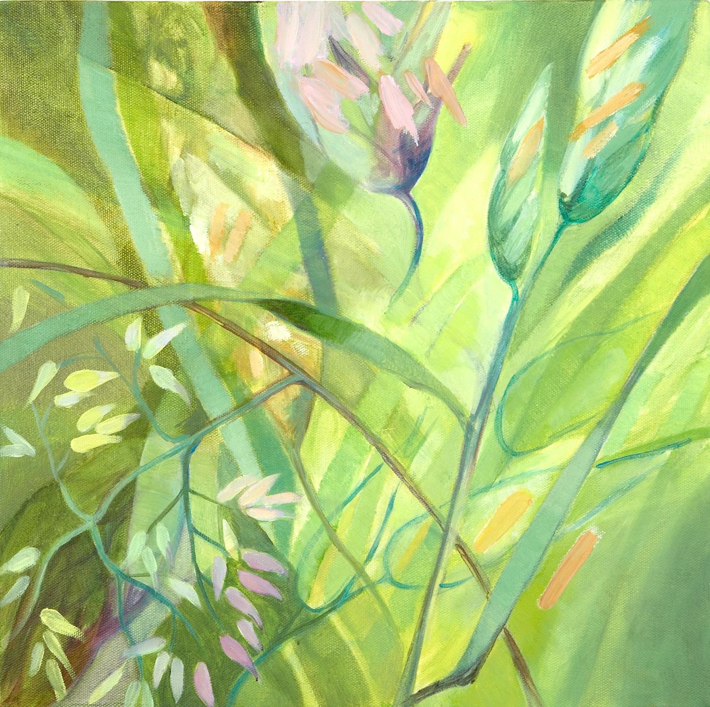 GRASSES Oil on canvas, 35cm x 35cm