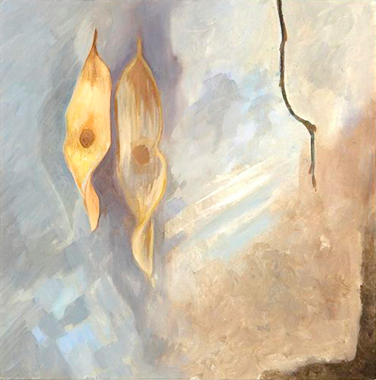ASH KEY SEEDS Oil on canvas, 35cm x 35cm