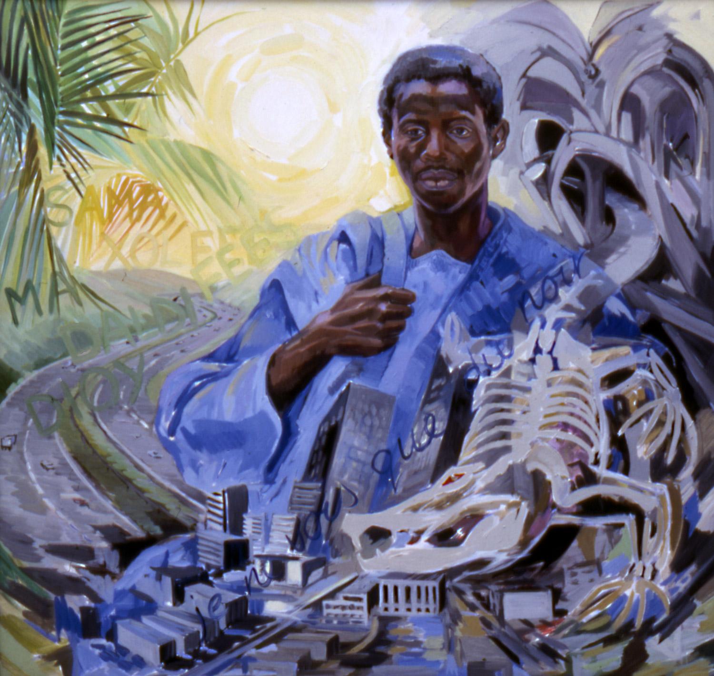 IBRAHIM BOB - JUNGLE Oil on canvas, 80cm x 100cm