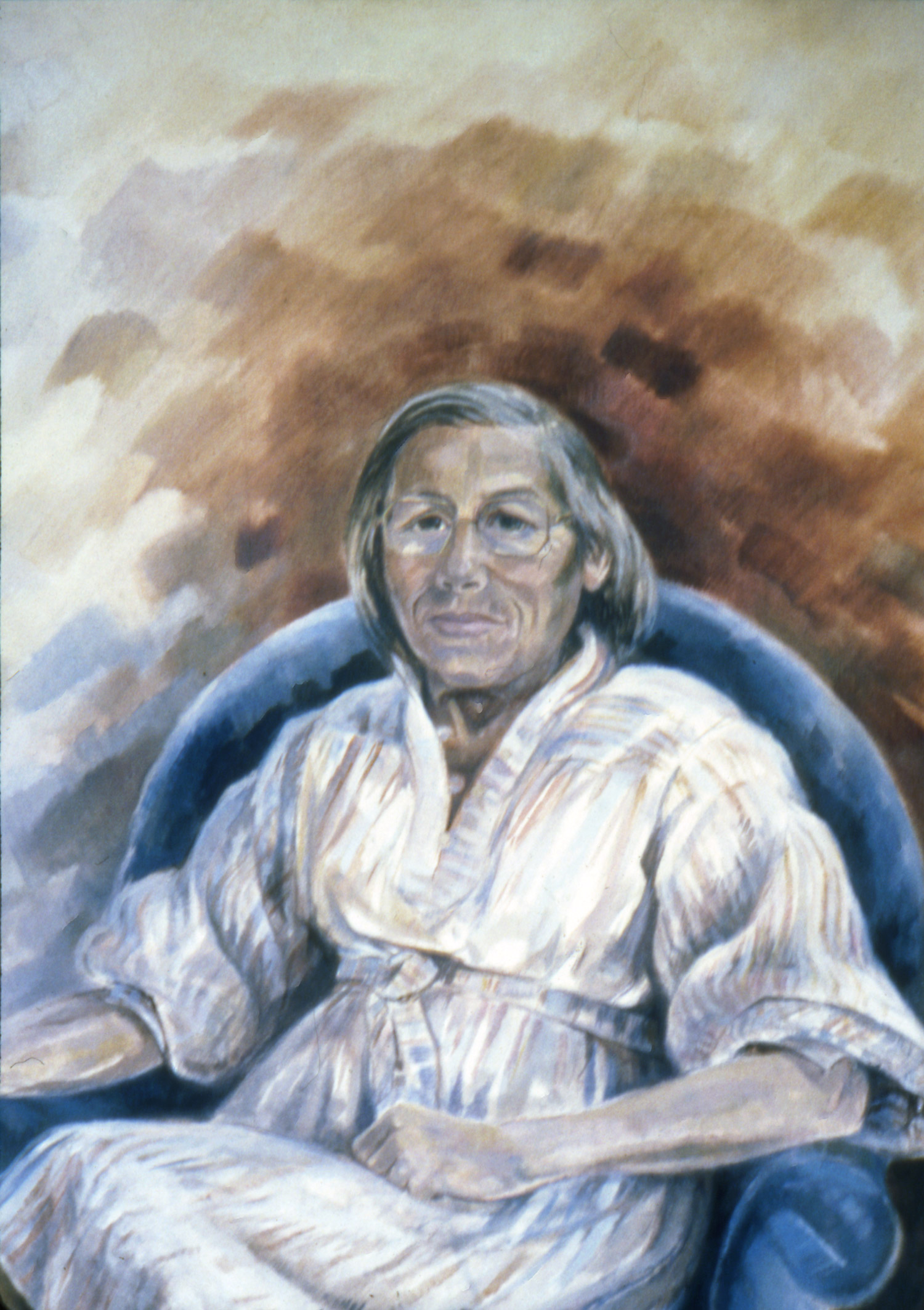 RUTH IN HER LAST YEAR Oil on canvas, 75cm x 100cm