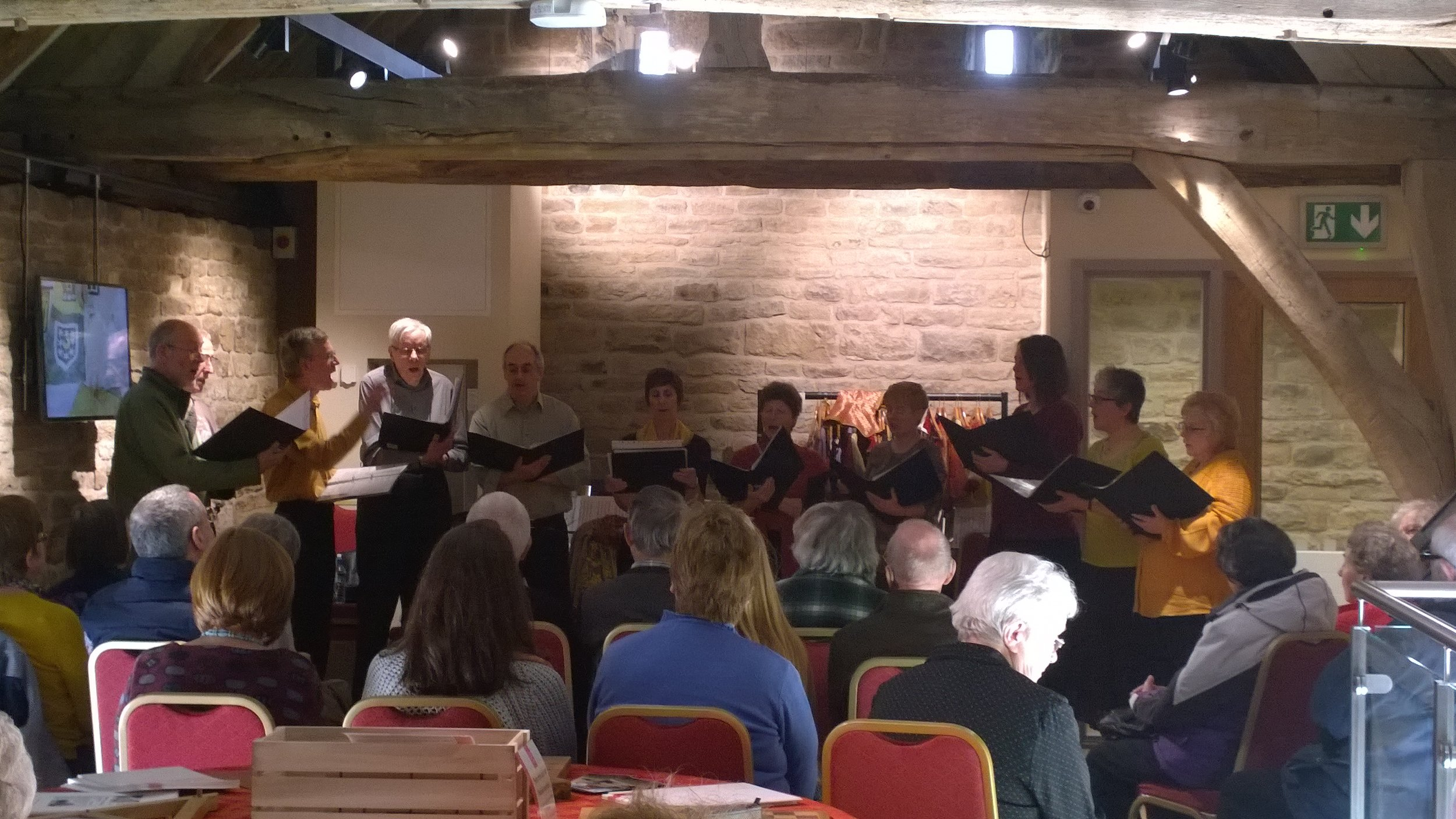 Singing in Dronfield Hall Barn.jpg