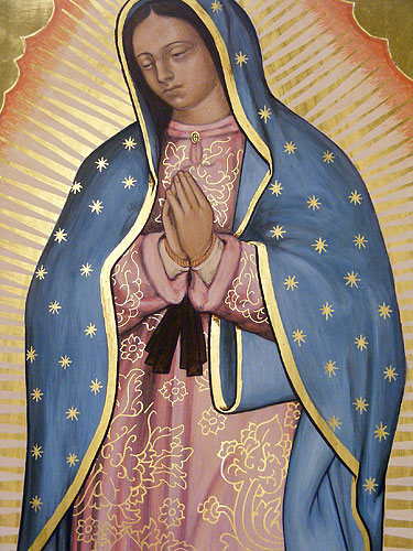 Our Lady of Guadalupe, detail