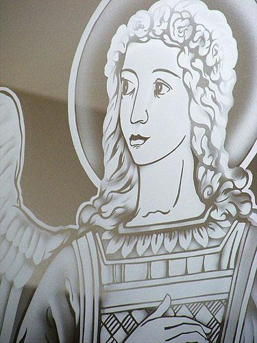 Archangel Gabriel, detail