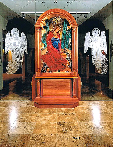 Mary Assumed, with Archangels