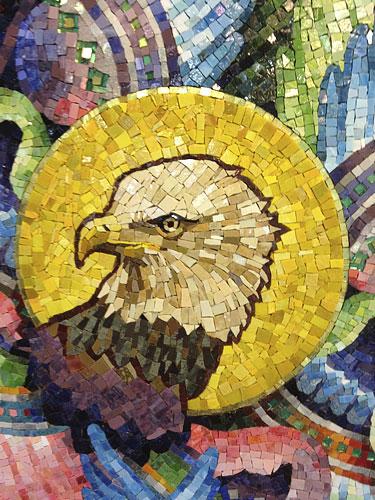 Mosaic, Lamb of God, detail