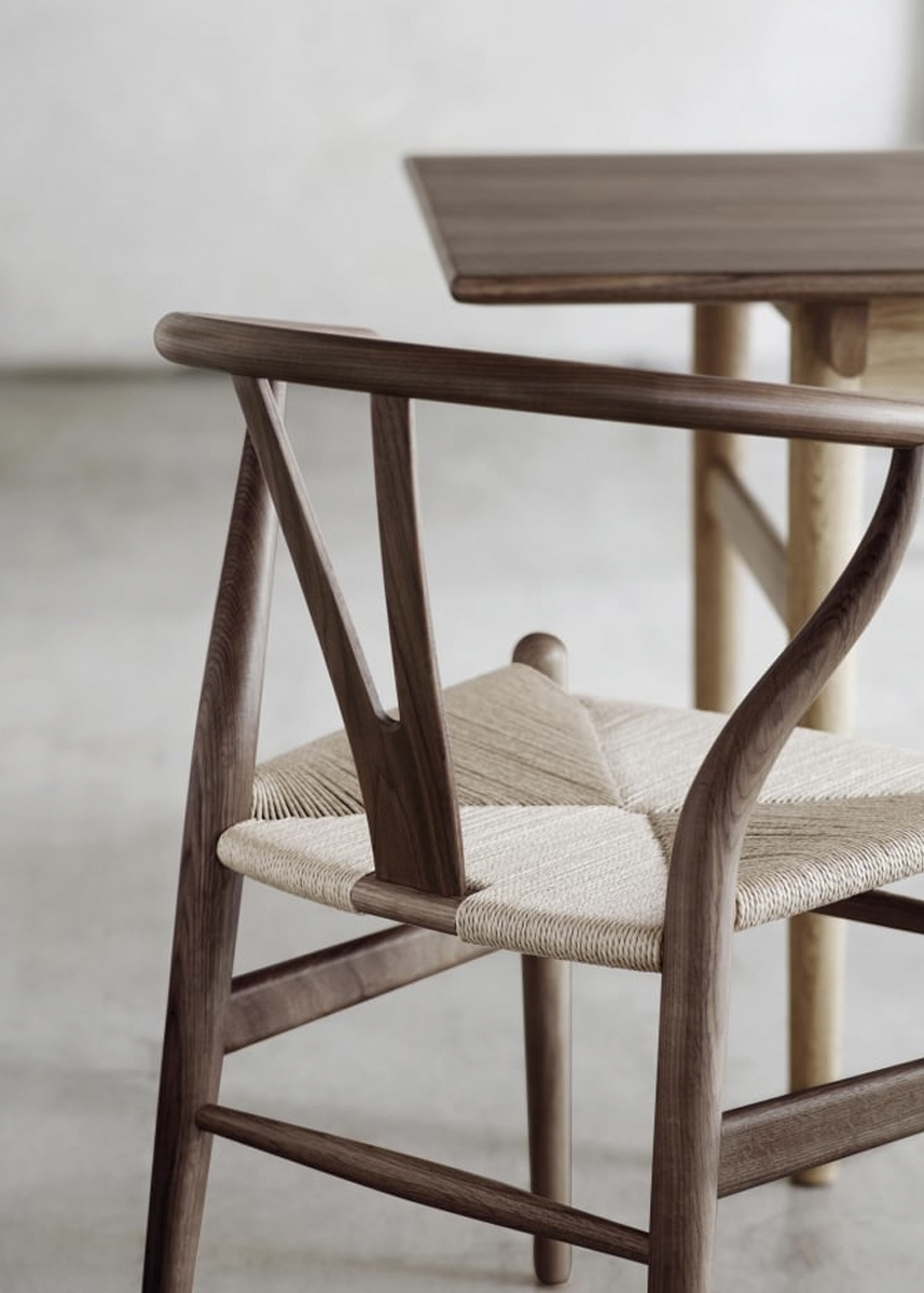 The 'wishbone' chair - titled CH24 - has been in constant manufacture since 1950
