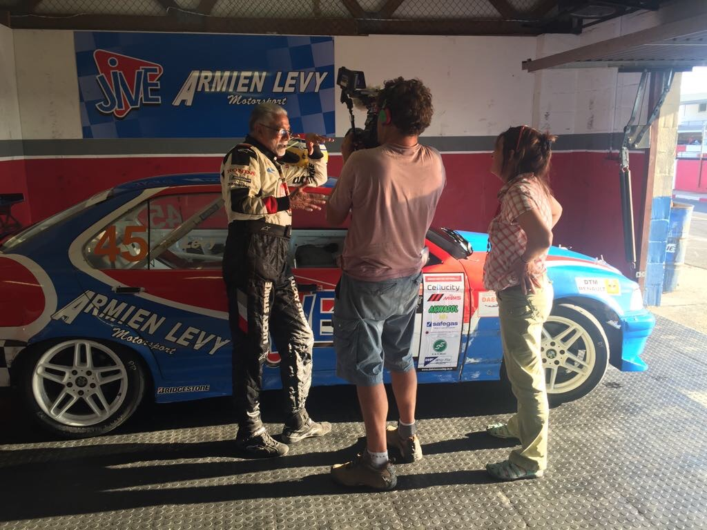 Interviewing veteran racing driver Amien Levy at Kyalami in Cape Town for CNN International's Inside Africa. Amien was one of the first people of colour in South Africa to race cars. He is much loved by his community as a pioneer for his sport. It was a pleasure to spend time with him for this programme broadcast in 2017 about car culture in Cape Town.