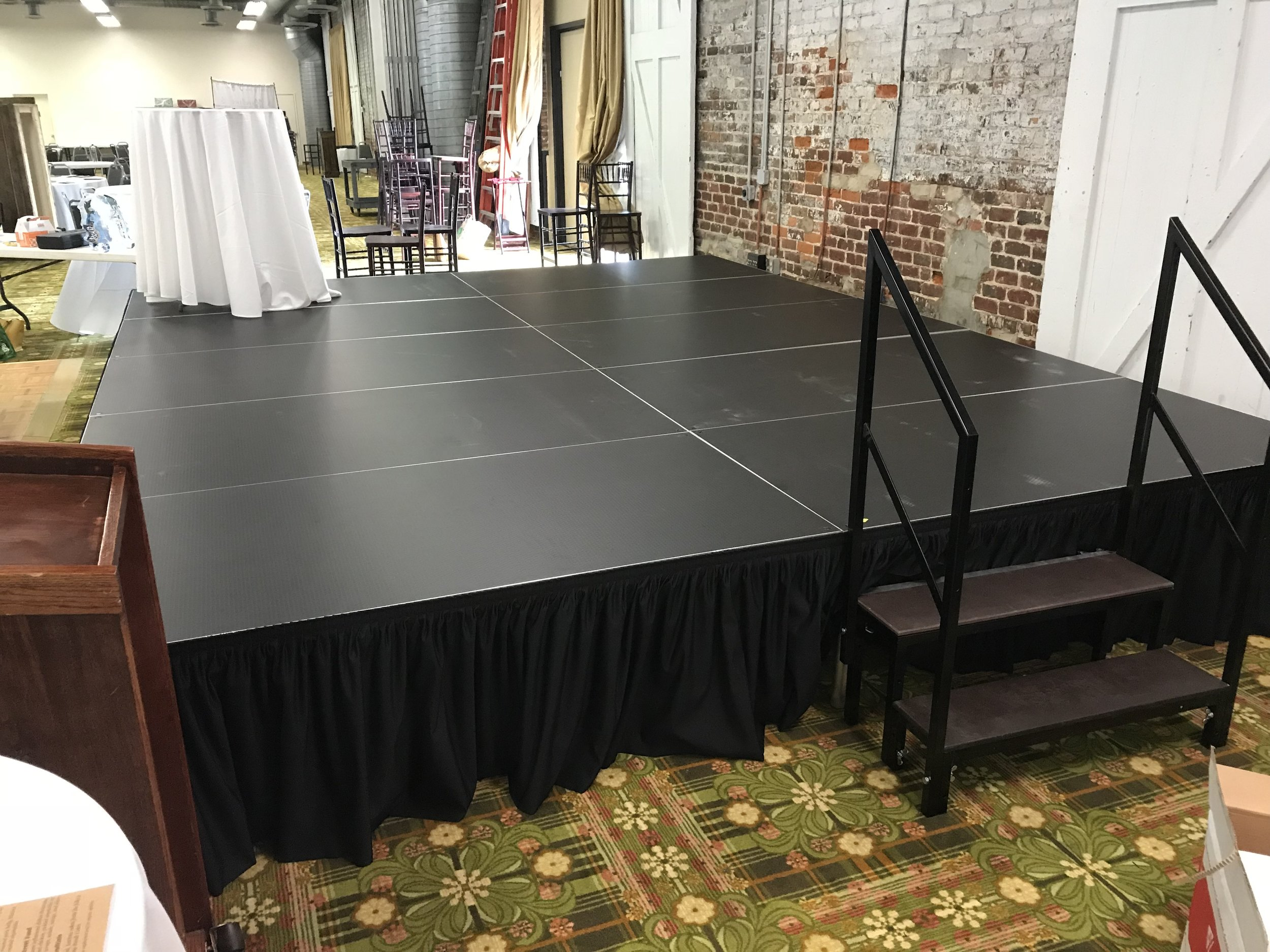 2ft tall, 16ft wide, 12ft deep stage for Nourish NC