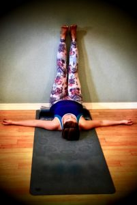 Legs up the Wall - Sit as closely as you can to the wall, lean back on the floor, and allow your legs to rest on the wall. If you have a regular yoga practice and would like to do a supported shoulder stand, headstand, or headstand, these are also helpful.