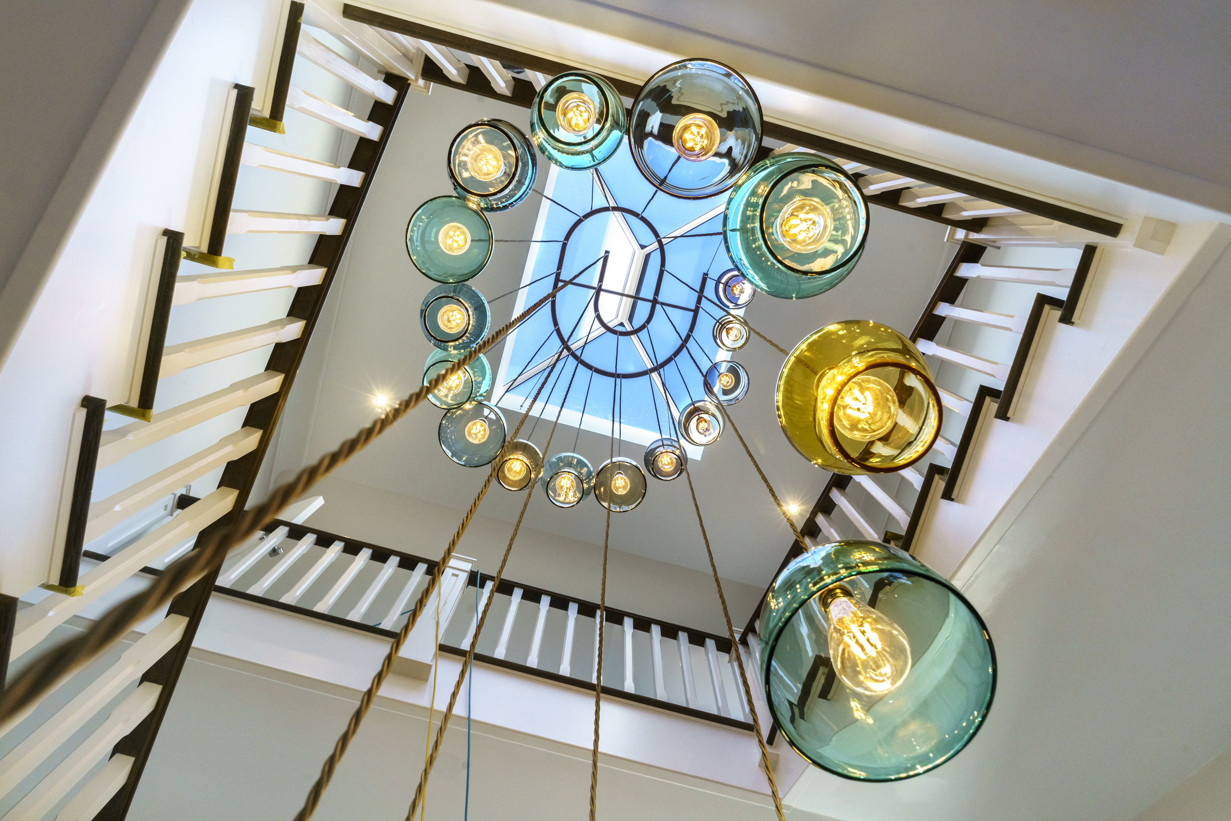 Stairwell Spiral Chandelier