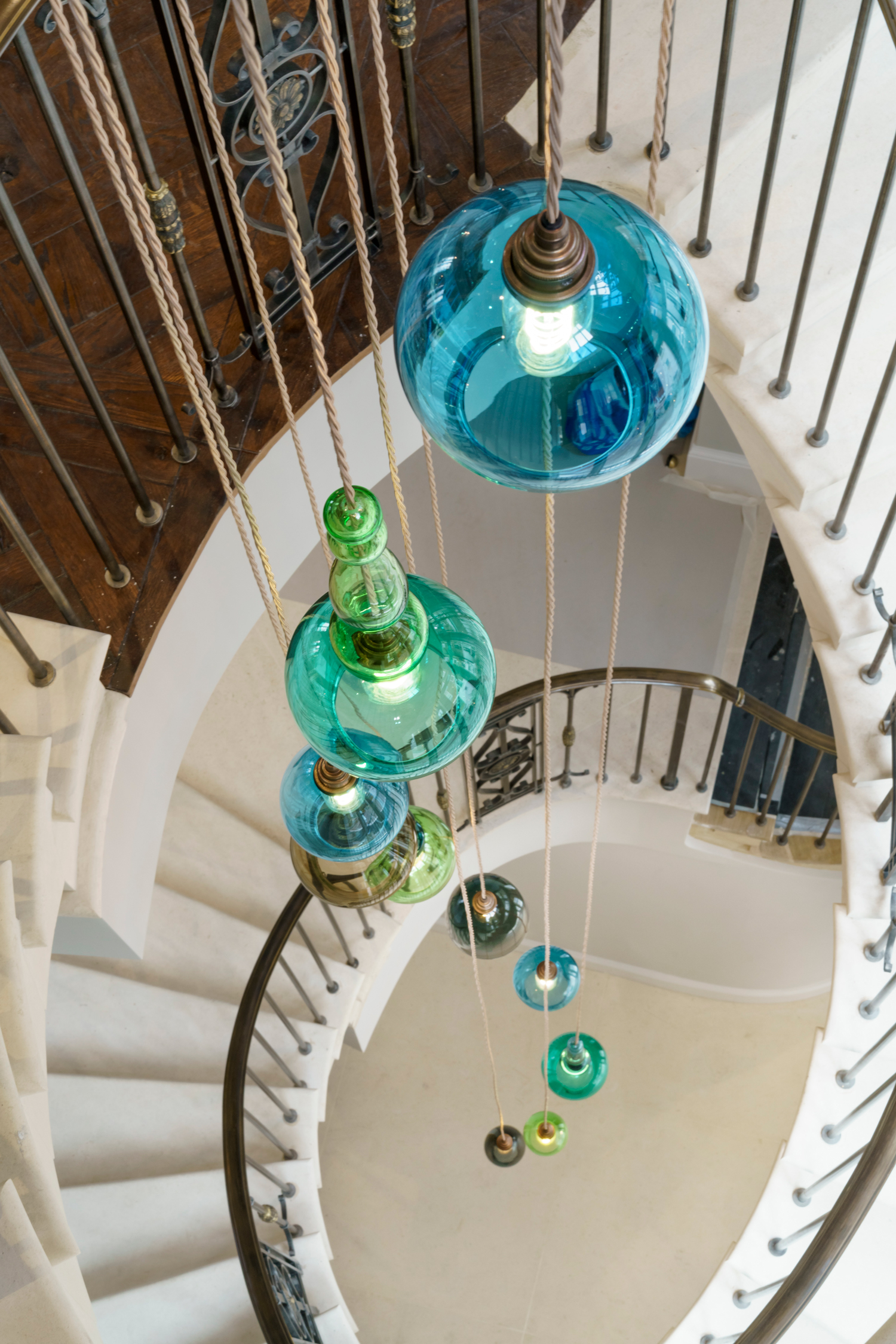 Havona House Stairwell Chandelier 2