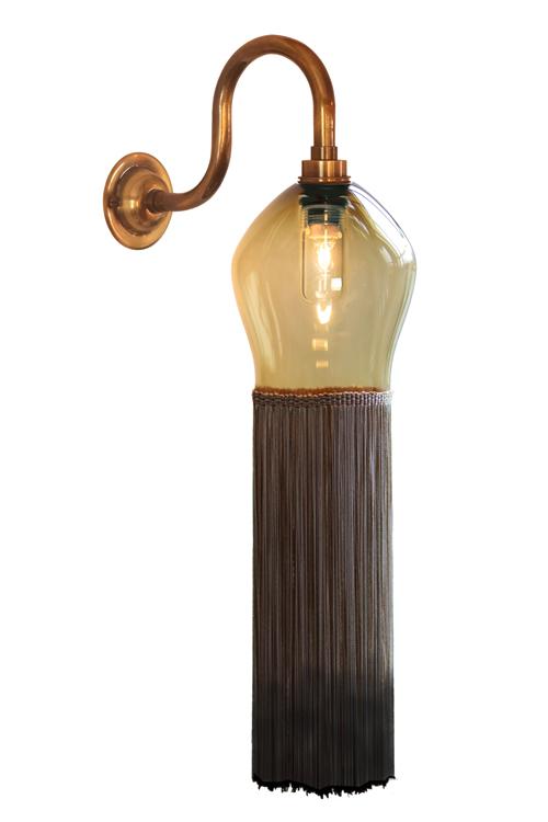 Swan Tassel Light with Classic Teardrop
