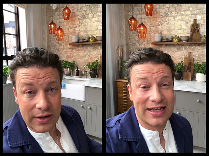 We supplied this glass lighting design of three Teardrop Pendants for Jamie Oliver some years ago, so it was great to spot it still looking very fine on a recent IGTV broadcast by Jamie recently.