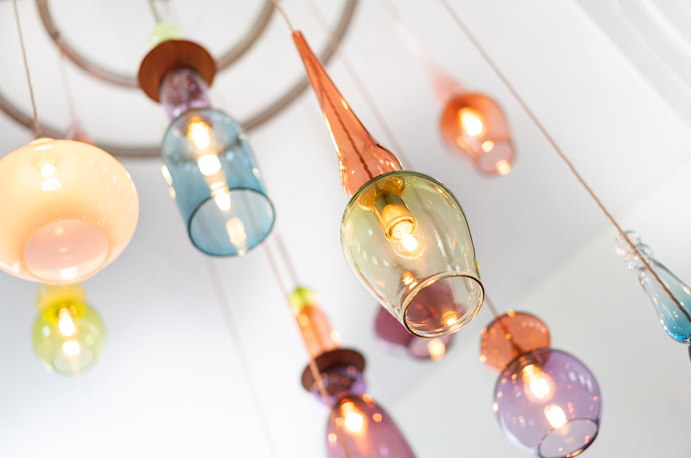 Curiousa & Curiousa debuted this new chandelier featuring new     Sculptural Stacked Light         designs at the Wirksworth Festival in advance of a launch at Decorex International 2019 (6-9 October)
