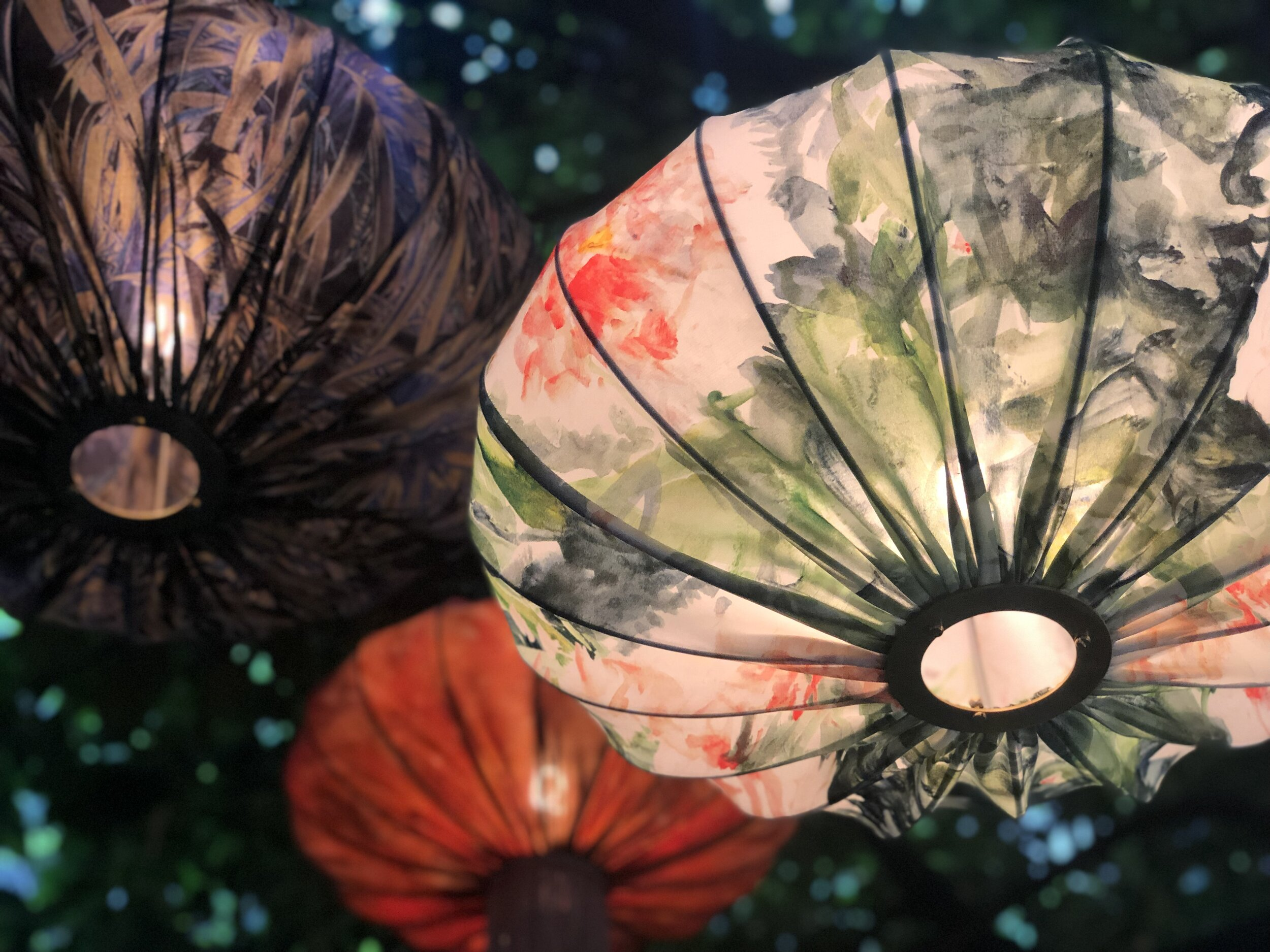 Curiousa & Curiousa will return to Decorex International 2019 (6-9 October) on stand F160, but also have an     Ume Silk Lantern       in our Garden Is Sanctuary print featured in the Design Encounter zone.