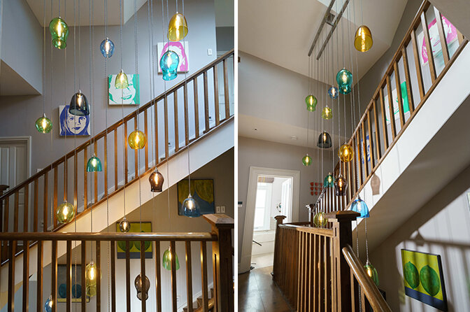 Large Stairwell Chandeliers and statement lighting designs are frequently commissioned, with each site-specific space offering up its own opportunities and challenges.