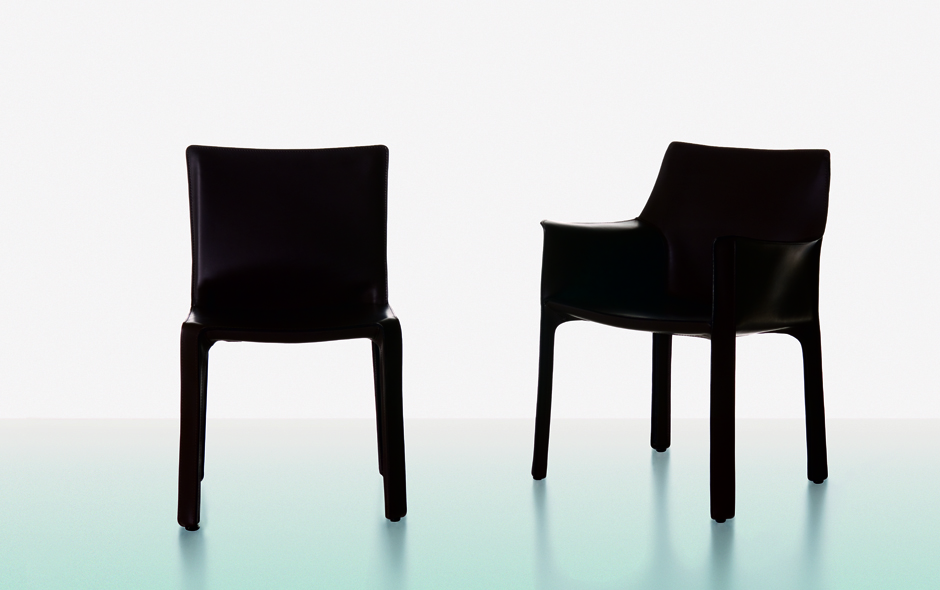4/19 #4 Cab Chair by Mario Bellini for Cassina.