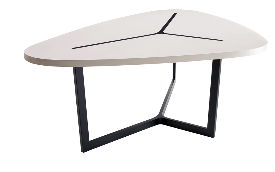 3/19 #3 Seven table by Jean-Marie Massaud for B&B Italia.