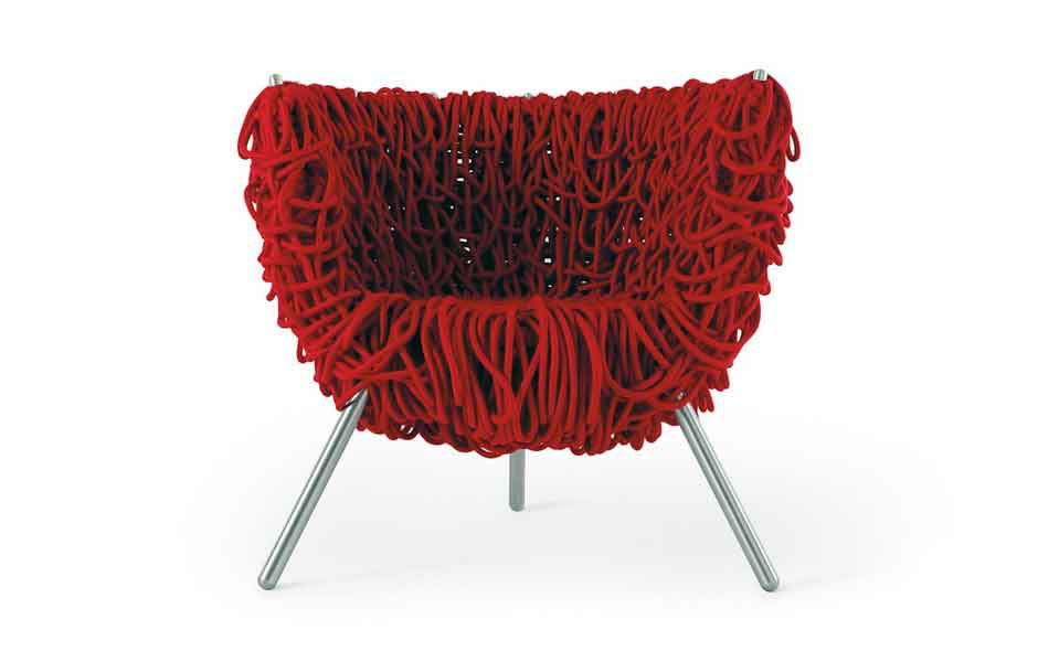 6/20 The Vermelha chair launched in 1993 and was the first design by the Campana brothers to be produced by Edra.