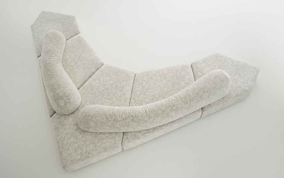 9/20 On The Rocks sofa designed by Francesco Binfaré was released in 2004 and like the Flap is designed to be flexible.