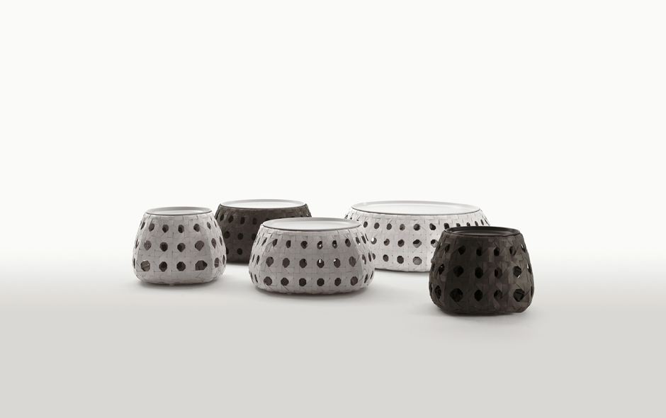 10/12 The Canasta stool collection transforms a traditional weave.