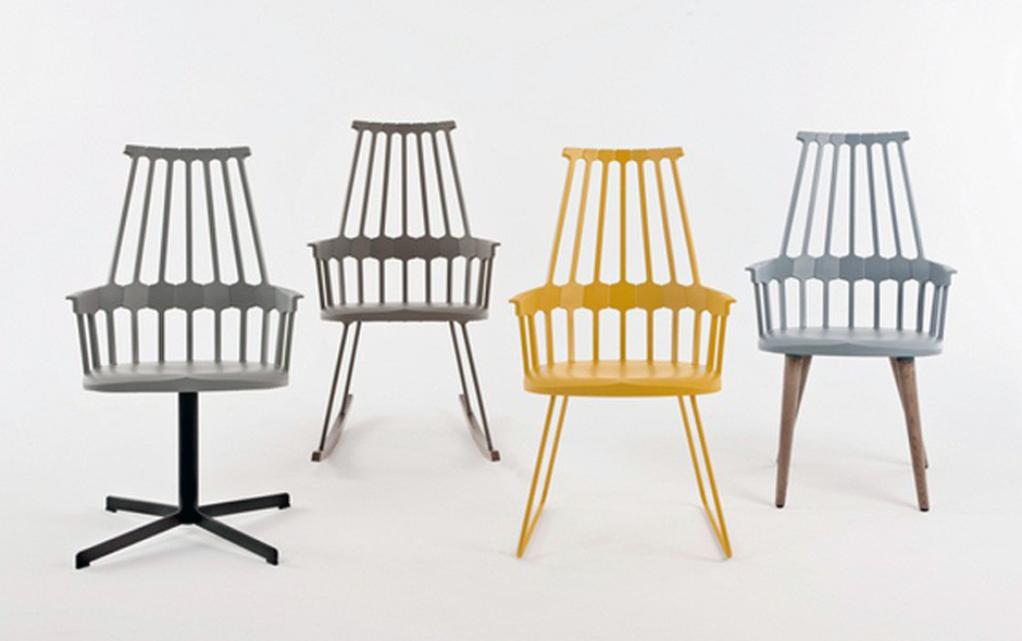 2/4 Kartell is well known for its reinterpretation of the past – the Comeback Chair designed by Patricia Urquiola a nod to 16th century timber comb-back Windsors.
