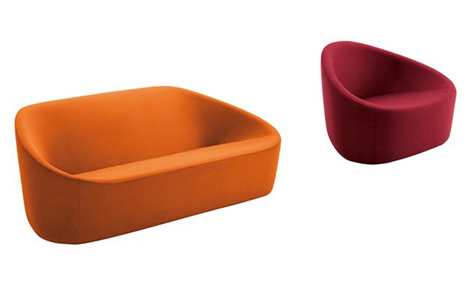 The Club Sofa and Armchair by Prospero Rasulo for Zanotta.