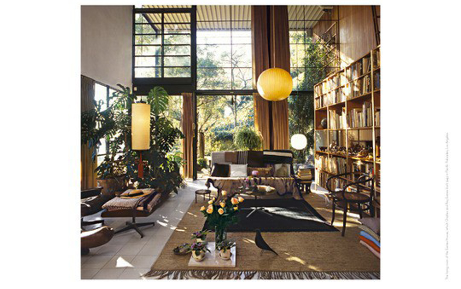 4/6 The landmark Eames House, also known as Case Study House #8, in Pacific Palisades, Los Angeles.