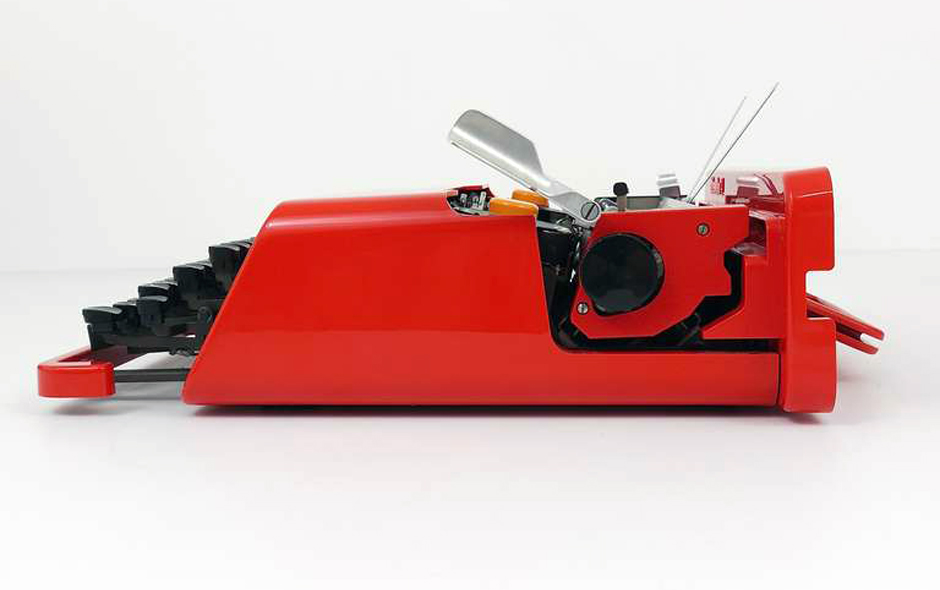 1/2 Valentine for Olivetti by Italian designer, architect and father of the Memphis Movement, Ettore Sottsass.