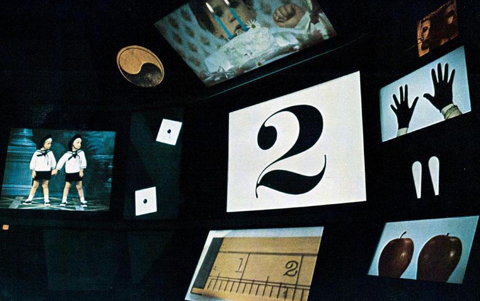 2/2 Inside the IBM pavillion designed for the 1964-65 New York World's Fair by Charles Eames with Studio Saarinen.