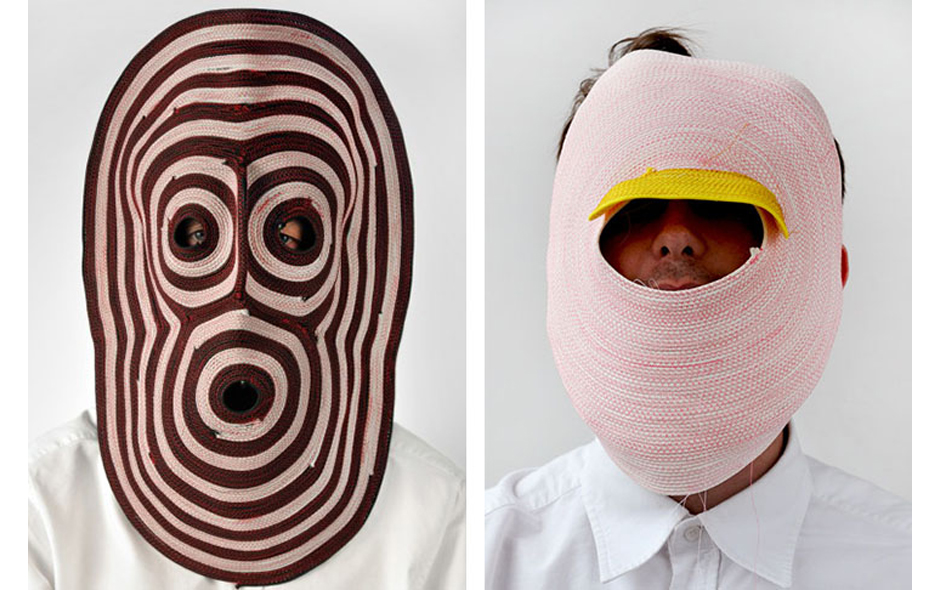 1/2 Masks by Bertjan Pot at the Triennale.