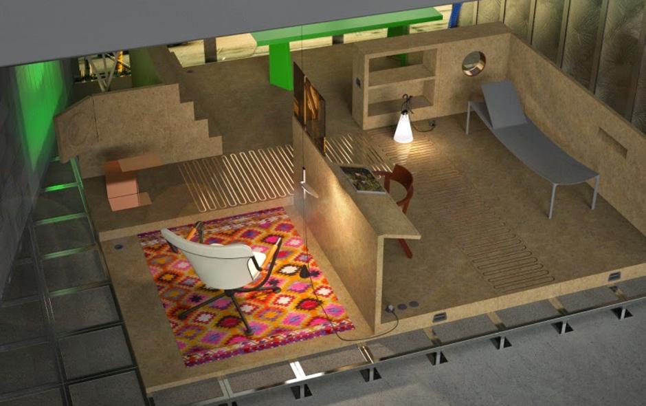 3/6 Room 1, Life Space. Rendering copyright KGID.