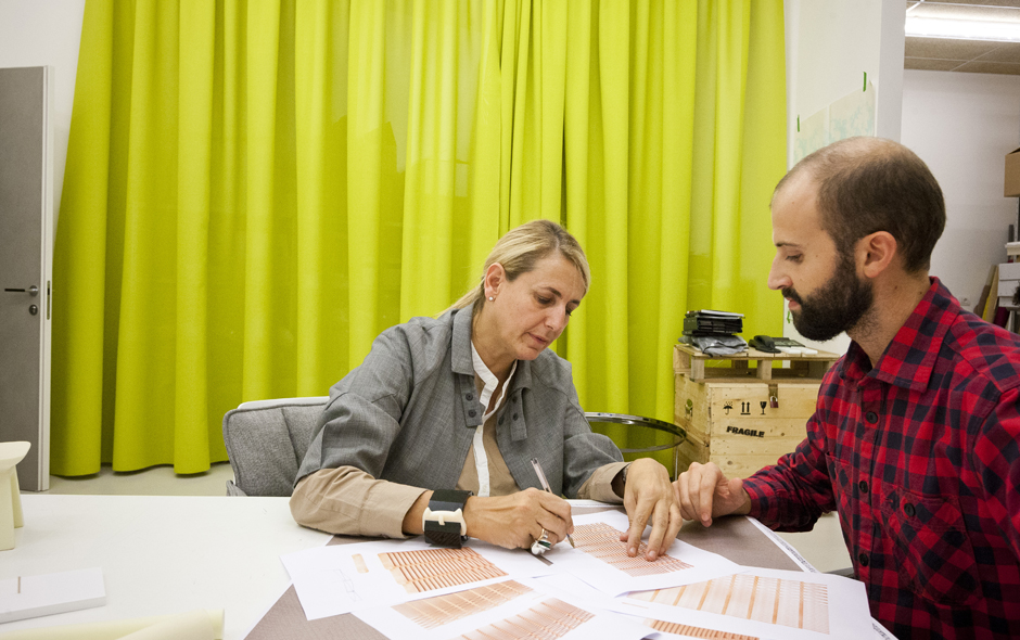 Design teams work closely with Urquiola on all aspects of a project.