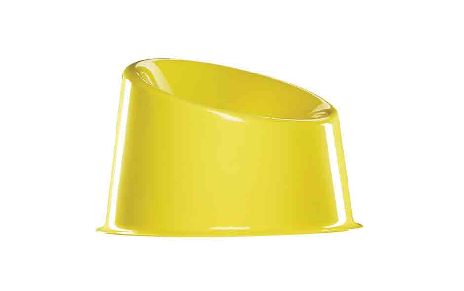 1/7 The Pop lounge chair in buttercup yellow.