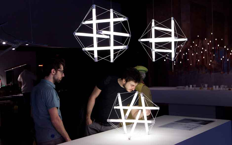 7/11 German lighting designer Ingo Maurer has one of the most impressive installations every year at Spazio Krizia.