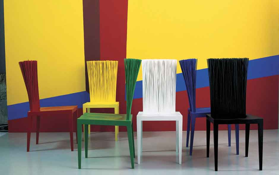 4/5 Janette by Fernando and Humberto Campana for Edra is one of their most iconic chairs.