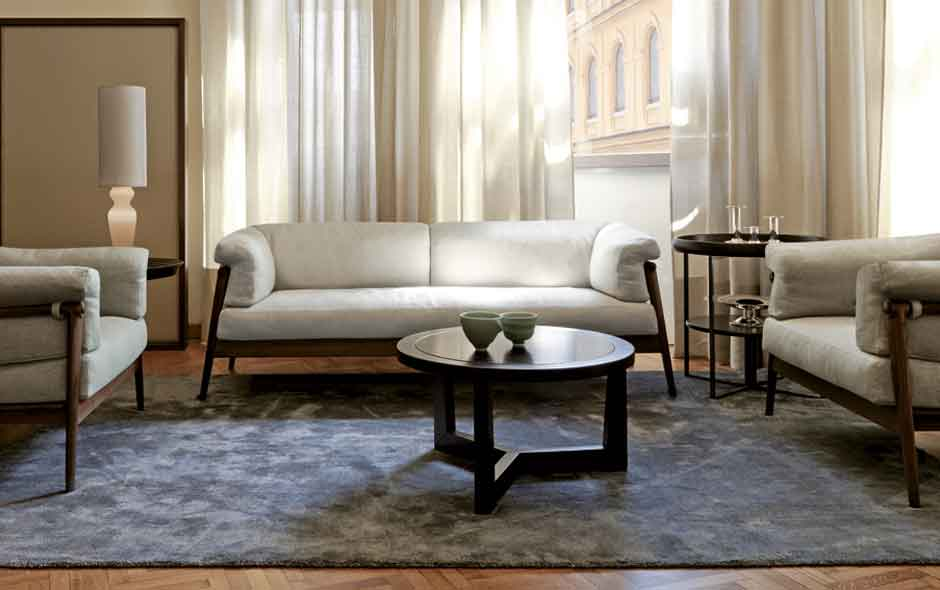 2/8 Inside the Giorgetti Atelier in Milan, the Derby sofa collection is a Nordic-inspired, pared back range designed by Laura Silvestrini.