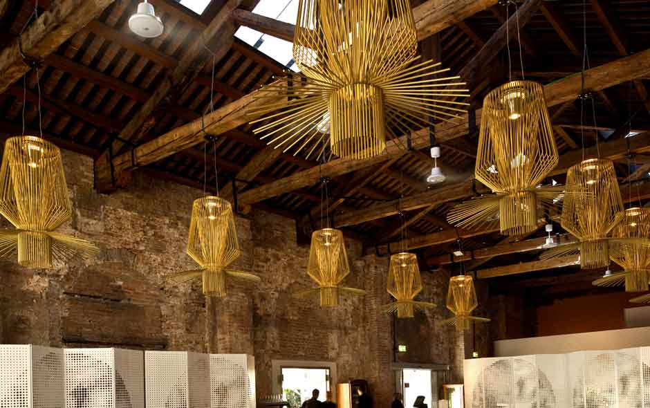 3/3 The Allegretto collection by Swiss architects Atelier Oi for Foscarini took centre stage in Venice.