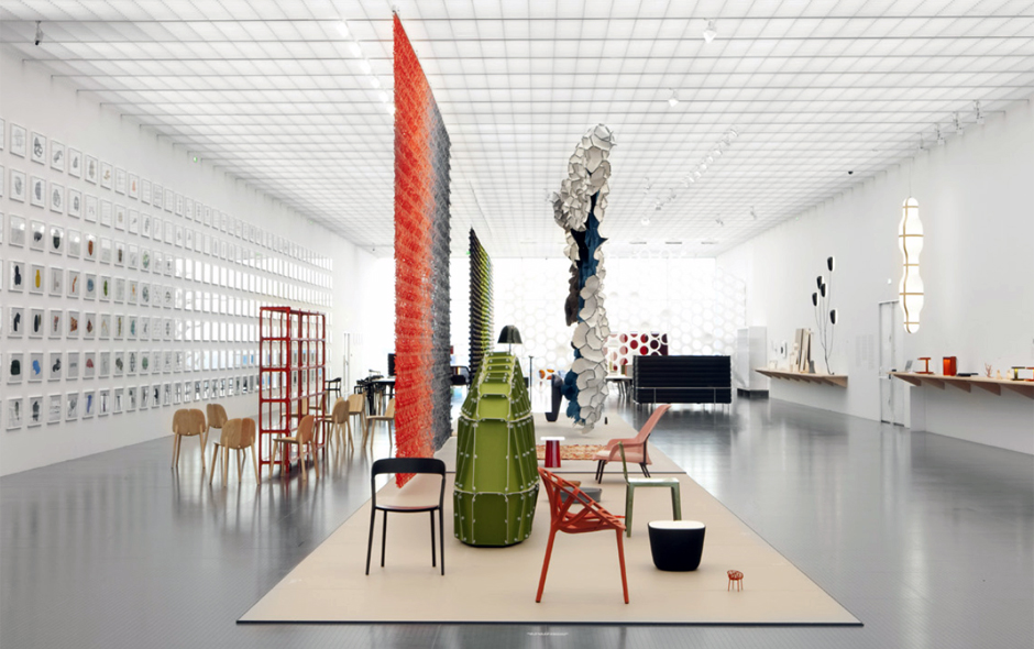 2/4 Galleries bring the book to life with spaces divided by a sea of shapes bristling with ideas across the landscape of furniture, objects and architecture.