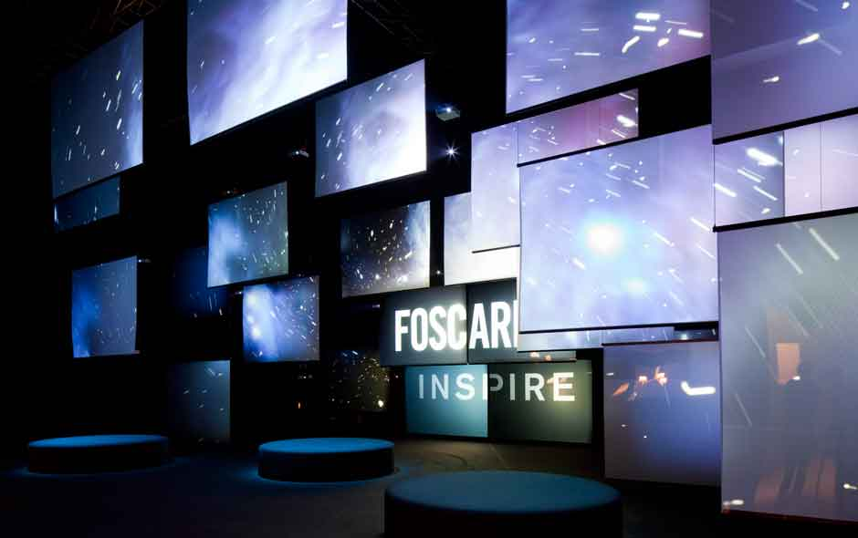 16/19 The Foscarini installation by Vicente Garcia Jimenez was all sound and projection immersing visitors with fragments of the turbulent North Sea during a storm.