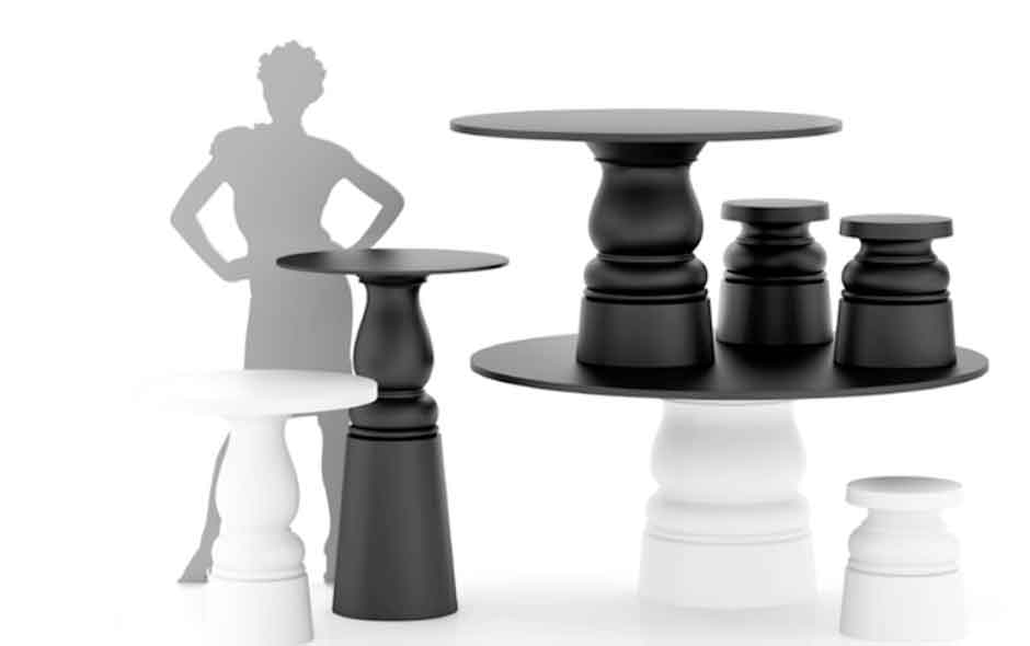2/8 Container Table New Antiques series by Marcel Wanders.