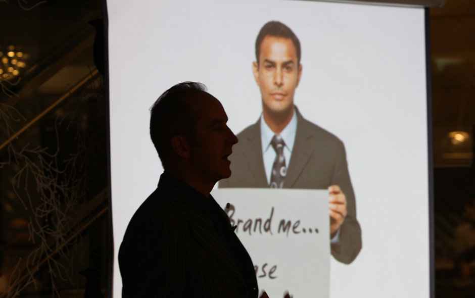 3/5 Kevin McCloud's presentation explored the differences between design brand and design maker.