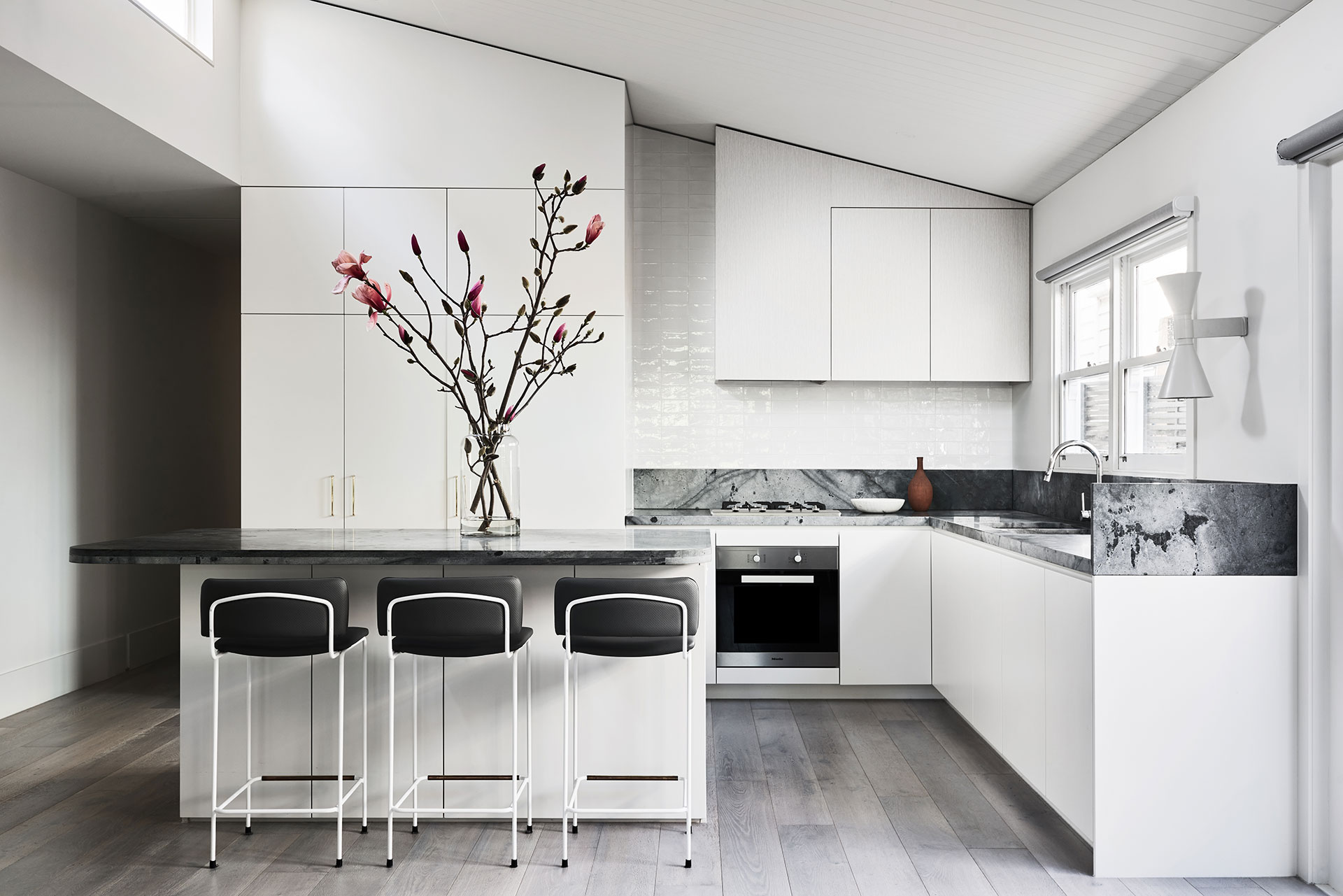 The kitchen of the Bleinhem Project by We Are Huntly.