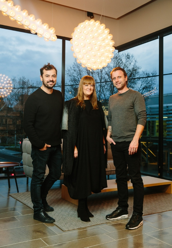 The speakers from Artichoke Night School 21:  Rodney Eggleston,  Amanda Henderson and Luke Wallis. Photo: Kit Haselden