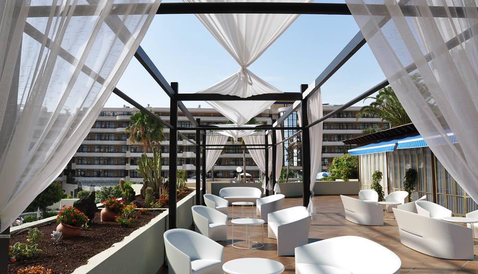 A terrace featuring the Christopher Pillet designed Pine Beach range for Serralunga