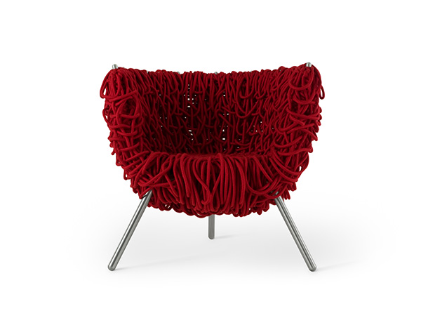 The Edra Vermehla chair is part of MoMA New York's permanent collection.